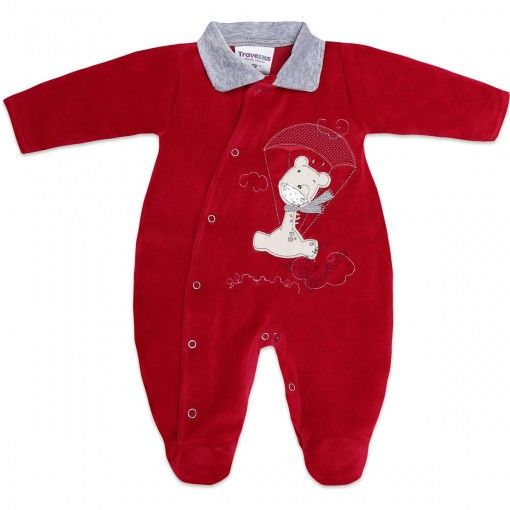 Macacão de Plush para Bebê Menino Paraquedas - Travessus