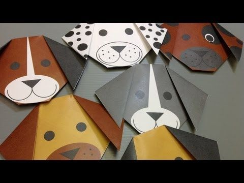 Daily Origami: NEW Free PRINTABLES - Dog - YouTube