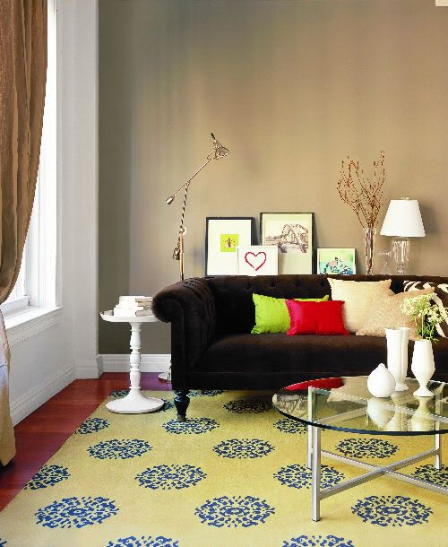 Living Room Yellow Rug 85 best brown furniture / living room images on pinterest | living