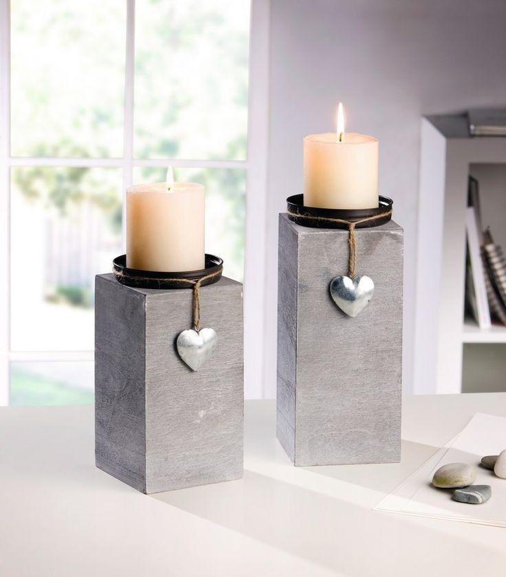 """Kerzenhalter """"Little Heart"""", 2er Set jetzt für 13,90 € kaufen im Frank Flechtwaren und Deko Online Shop"""
