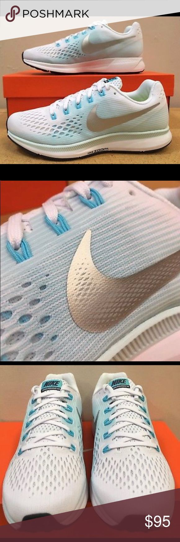 Nike Pegasus 34 Men+Women Running Shoe BRAND NEW IN BOX!!! You get free shipping(add to bundle so I can give you free shipping)Please refer to the size chart for men & women sizes. Price is firmed. Nike Shoes Sneakers