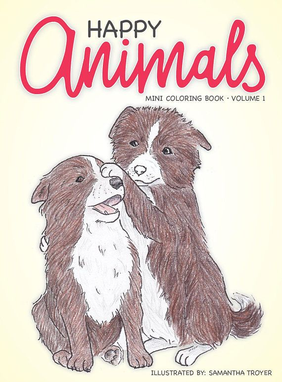 Happy Animals Mini Coloring Book For Kids Travel Size Fun Relaxing Ebay Kids Coloring Books Coloring Books Happy Animals