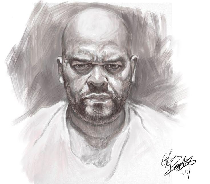 Monochrome Self Portrait In Sketchbook Pro 7
