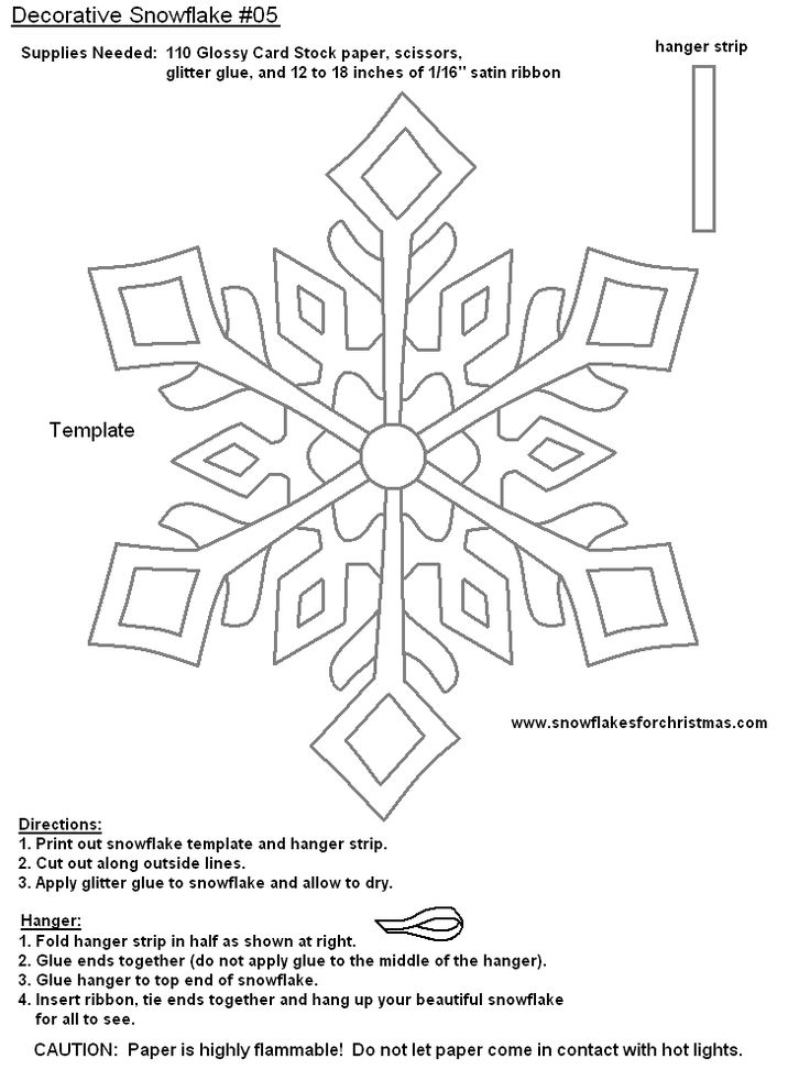 Best Snow Flakes Images On   Snowflake Template Snow