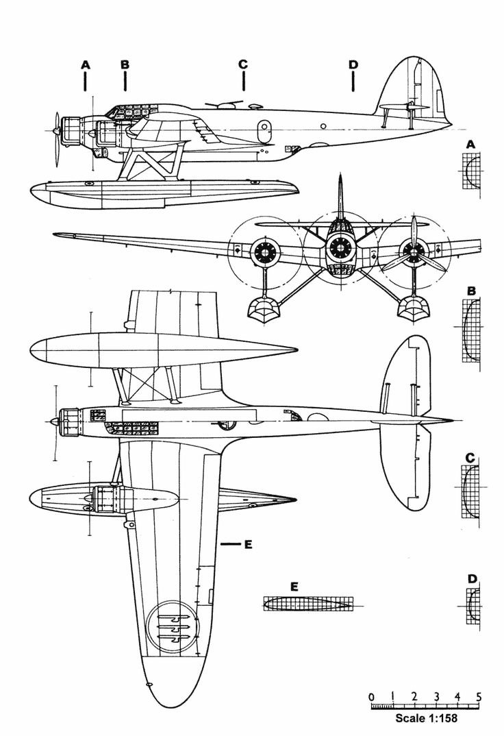 CANT Z.506 blueprint