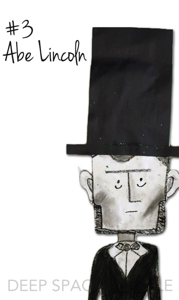 Abe Lincoln Art Project:  The years best art projects for 2014-15 from Deep Space Sparkle PRESIDENTS DAY