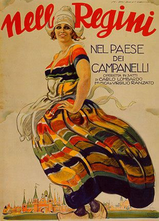 Marcello Dudovich - Nella Regini, Nel paese dei campanelli - Operetta in tre atti - 1923