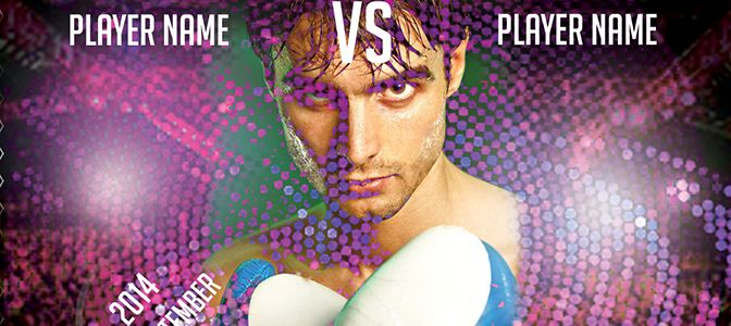 Boxing Flyer PSD Free Template is very modern psd flyer that will give the perfect promotion for your upcoming event or club parties