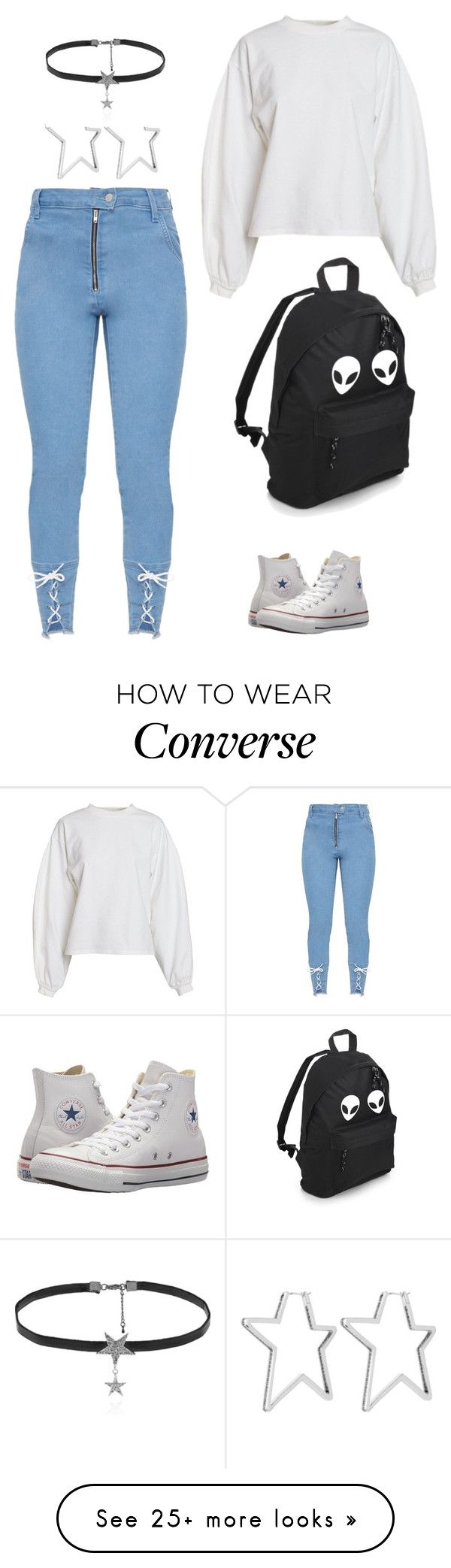 """Stars"" by jadinii on Polyvore featuring Henri Bendel, NLY Trend, Converse and Love Rocks"
