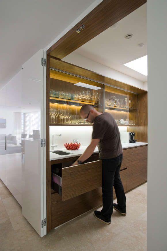 best 25 hidden kitchen ideas on pinterest sliding doors sliding room dividers and internal. Black Bedroom Furniture Sets. Home Design Ideas