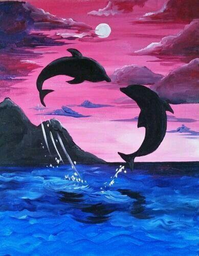 delfin malen acryl