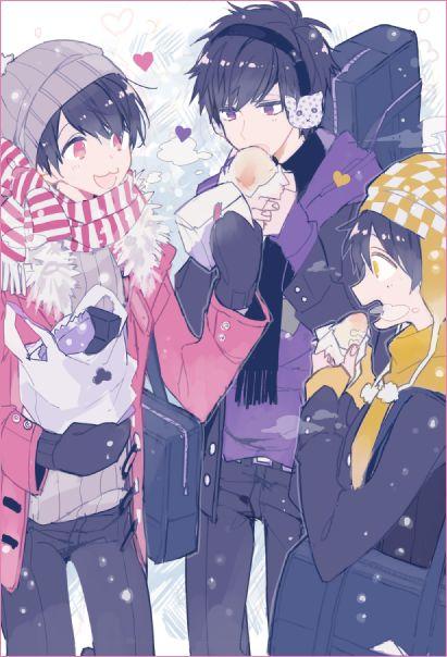 Osomatsu-san- Ichimatsu, Jyushimatsu, and Todomatsu #Anime「♡」School