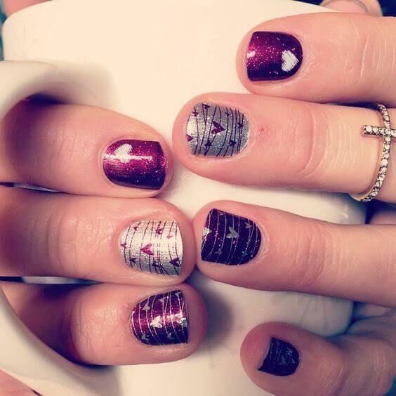 pomysły na paznokcie na walentynki