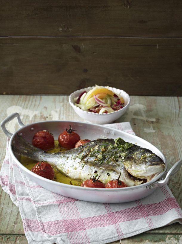 Unser beliebtes Rezept für Dorade mit Amalfitana-Salat und mehr als 55.000 weitere kostenlose Rezepte auf LECKER.de.