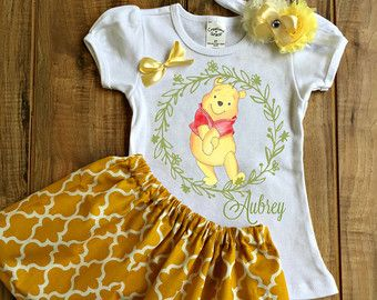 Winnie The Pooh Birthday Outfit winnie the by MillysDreamBoutique