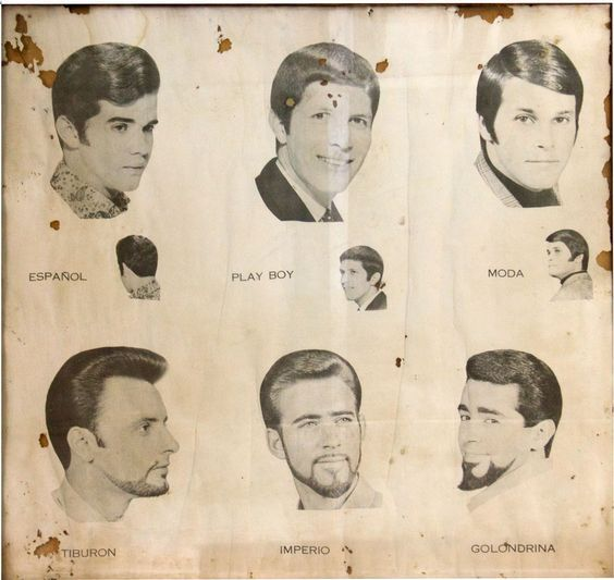 A classic collection of men's hairstyles      A collection of men's hairstyles from the 1970s      A vintage collection of men's hairstyle...