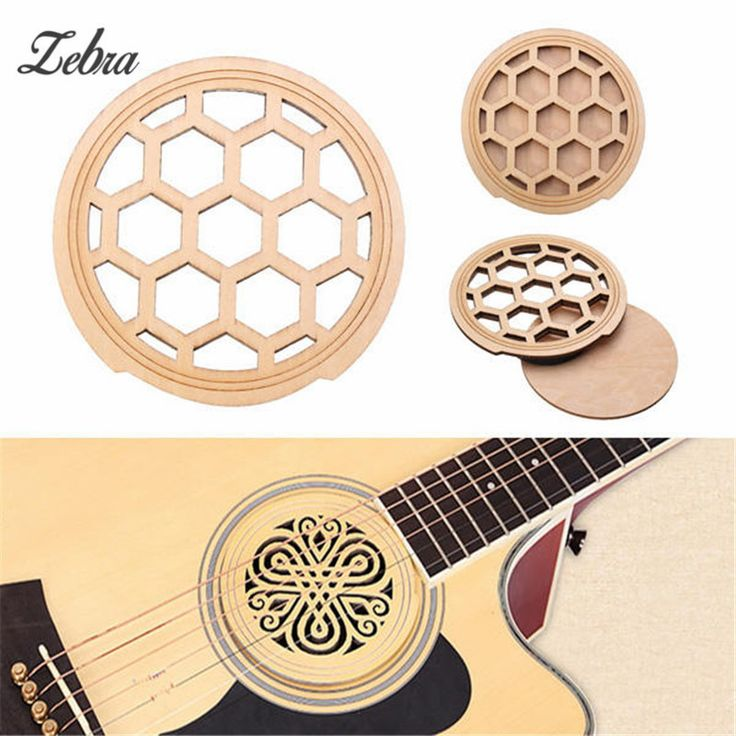Zebra Artful Design Guitar Wood Hole Sound Cover Hollow