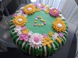 cake - dort květinová zahrada od SISI Pešel