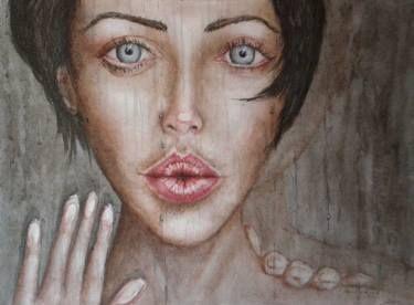 "Saatchi Art Artist Graham Edden; Painting, ""Kiss Off"" #art"