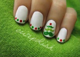 27 best uas navidad images on pinterest christmas nails nice 2014 christmas tree nail art for short nails cute 2014 christmas nail art design for short nails prinsesfo Gallery