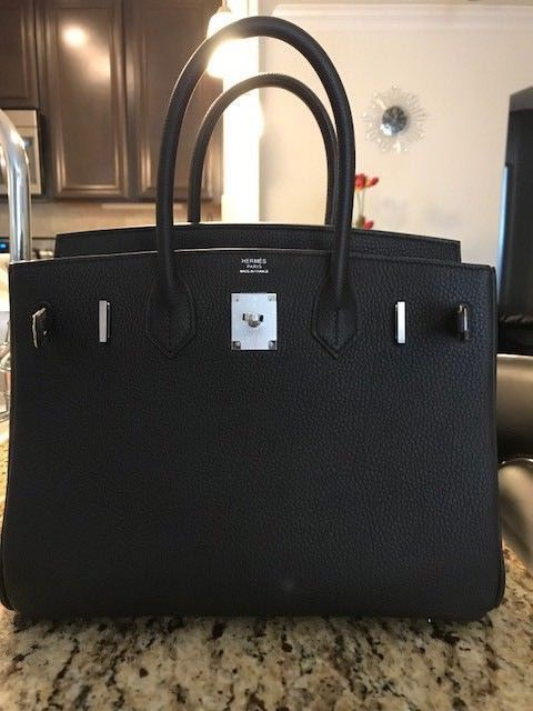 f2ad4ae13d 2016 Authentic HERMES Birkin Black Togo 30 Tote HandBag