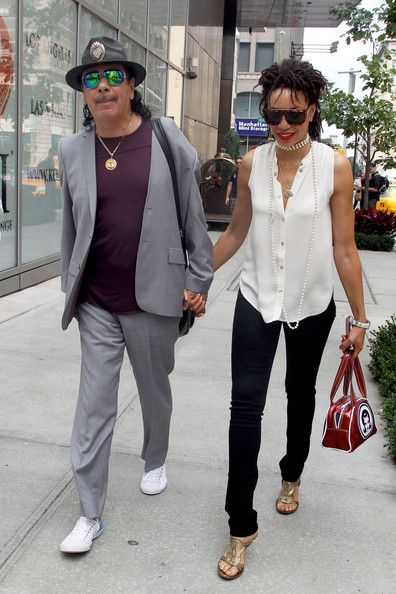 Carlos Santana New Wife | carlos santana spotted in nyc in this photo carlos santana cindy ...