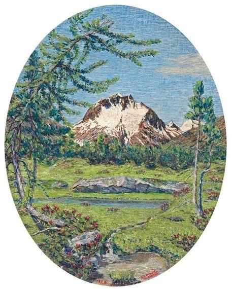 Gottardo Segantini / Engadiner Sommerlandschaft / 1922