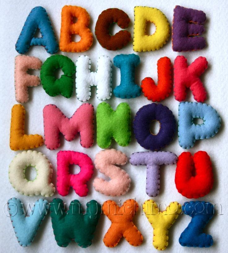 Stuffed Felt Alphabet Letter Set. i could make something like this! cute :)
