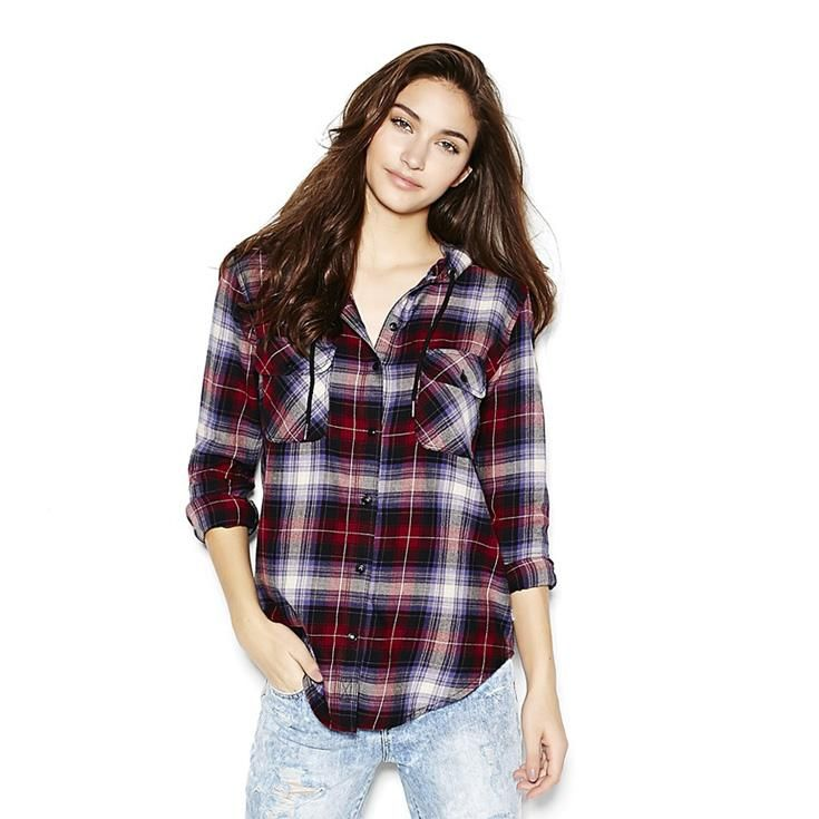 The Hooded Flannel Plaid Shirt