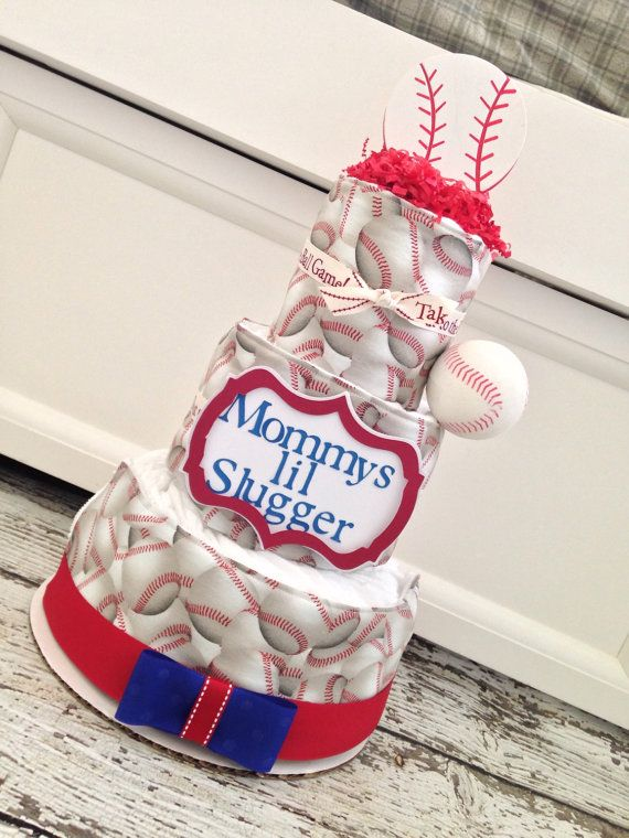 Mommy's Lil Slugger Diaper Cake Baseball Sports by ...