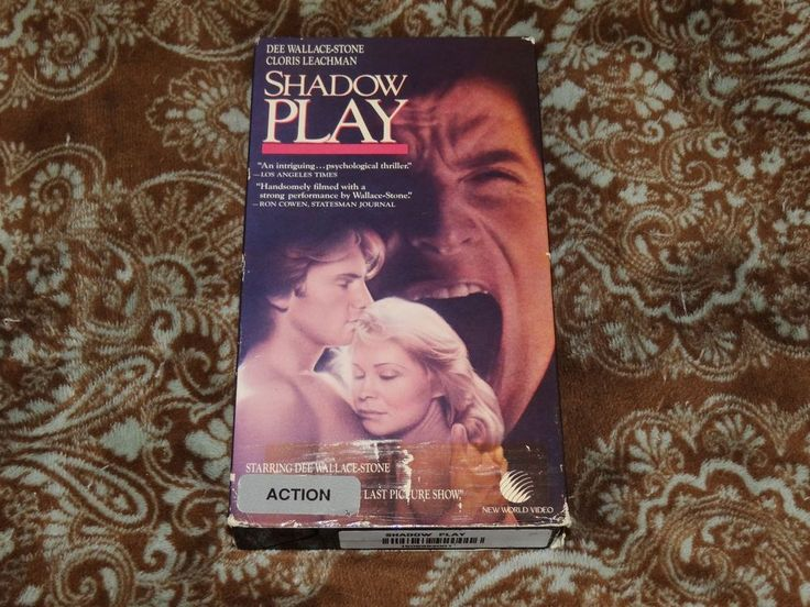 Shadow Play (VHS, 1991) Rare OOP New World! Stone/Leachman Horror! *NOT ON DVD*