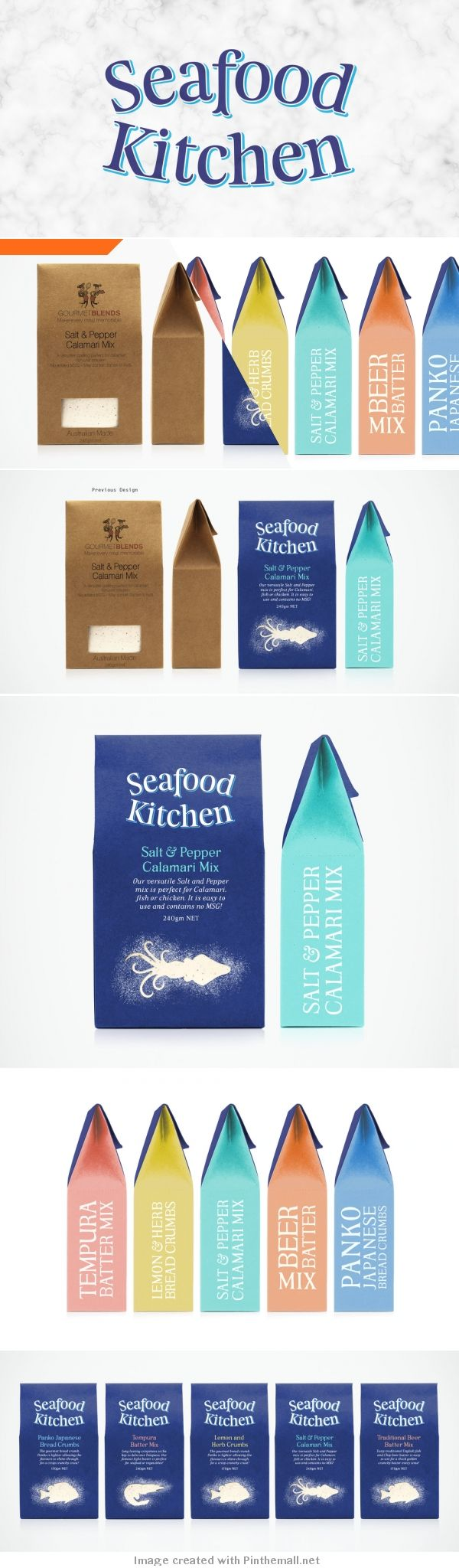 Seafood Kitchen let's make some calamari #packaging PD