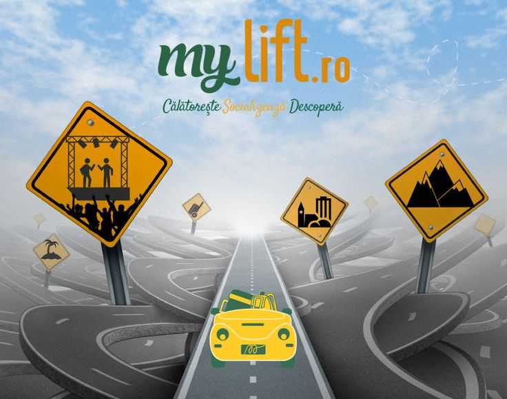Save money by sharing your ride with people travelling the same way. www.mylift.ro