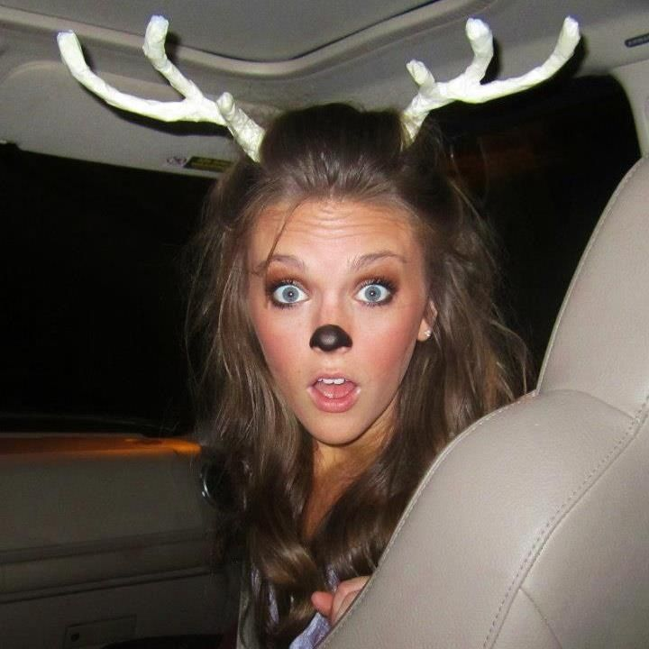 Dress as a deer for halloween and have your date be a hunter. Cute couples costume!!