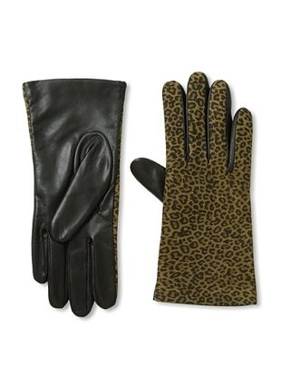 Open Sesame by Portolano Women's 2-Button Cashmere-Lined Tech Leather Gloves