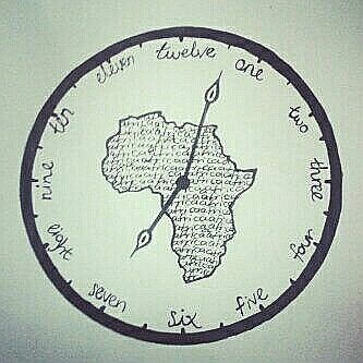 Daughter designed our clock- Africa time