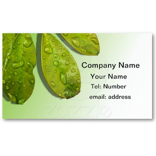 89 best business cards flissitations my designs images on nature natural leaves waterdrops business card reheart Image collections