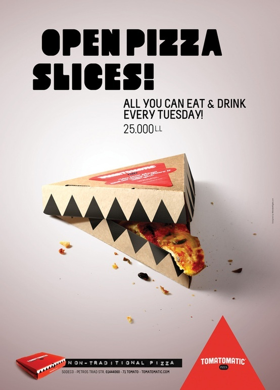 Very smart & fuckin' interesting Pizza Slice Packaging