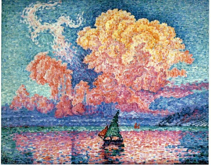 Paul Signac Most Famous Paintings | Le Nuage Rose, Antibes