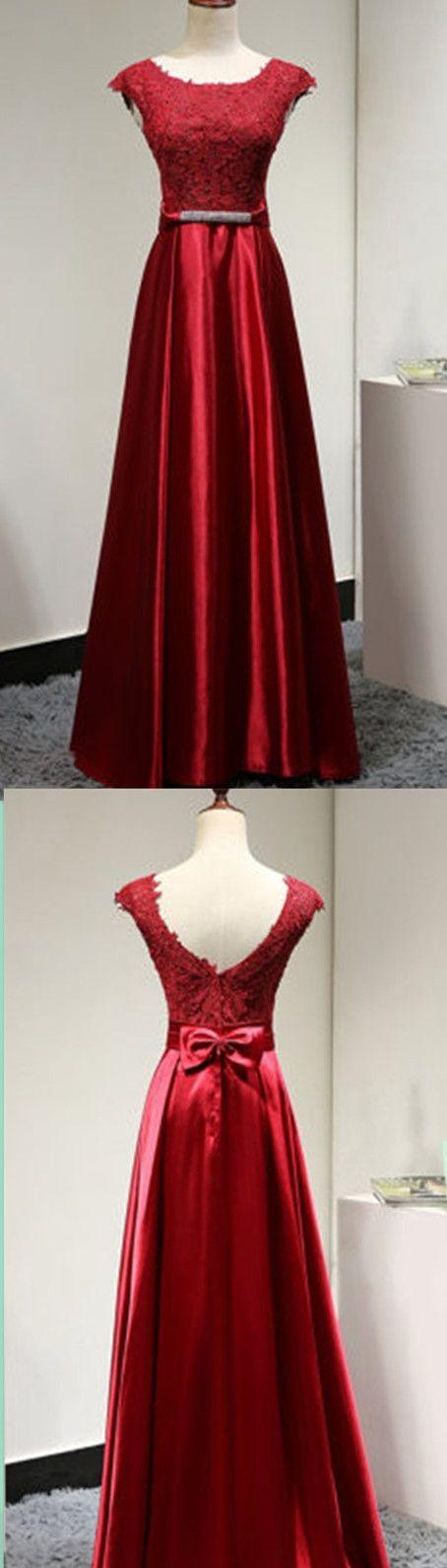 Burgundy Satin prom dress, sexy prom dress,Charming prom dress, long prom dress,prom dresses, elegant prom dress, prom dress