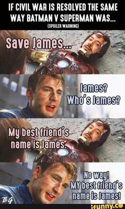 Captain America and Iron Man ... If Civil War was resolved like Batman vs Superman