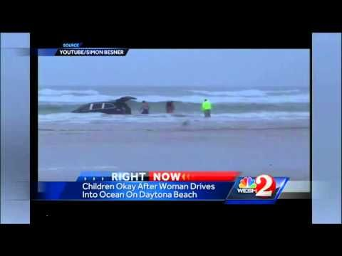 A Pregnant Mother Drove A Van With Kids Into The Ocean In Daytona  ( live news )