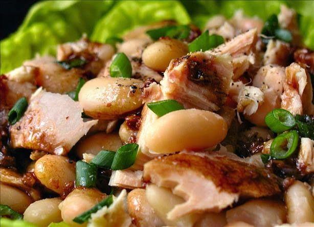 White Bean & Tuna Salad | salads | Pinterest