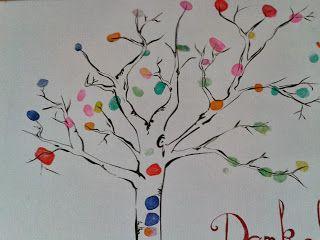 fingerprint tree Fingerabdruck Baum ein Abschiedsgeschenk für unsere Kindergärtnerin
