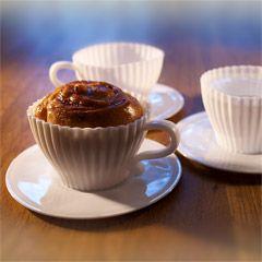 Kahvikuppivuoka ja lautanen 4 kpl