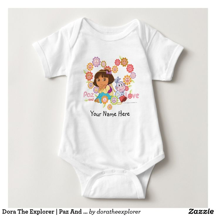 Dora The Explorer | Paz And Love. T-Shirt. Producto disponible en tienda Zazzle. Vestuario, moda. Product available in Zazzle store. Fashion wardrobe. Regalos, Gifts. Trendy tshirt. #camiseta #tshirt