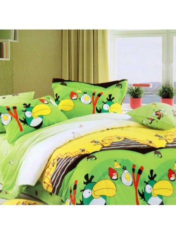 Angry Birds! My favourite game immortalised in a bedsheet!  #ValtellinaOnPinterest