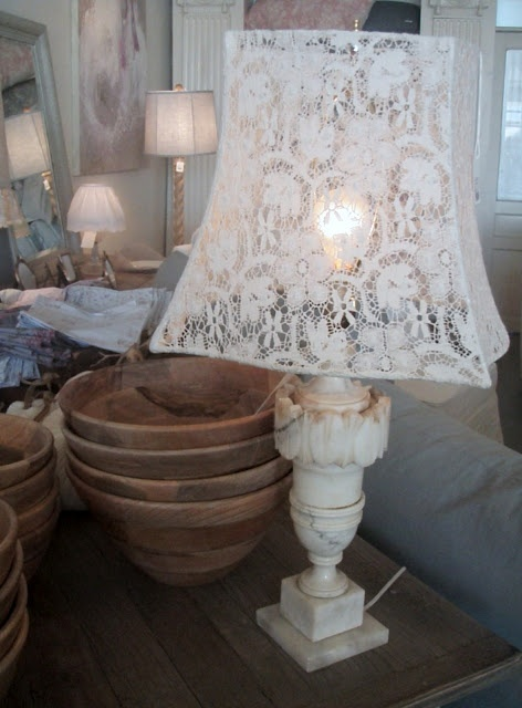 103 best lace lampshades images on pinterest lace lace lampshade cabin cottage mozeypictures Images