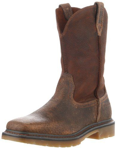 Ariat Men's Rambler Work Boot Ariat. $149.95. leather. Poly Vinyl Chloride outsole with non-tracking tread design. Unlined. Rubber sole. Ninty degree heel