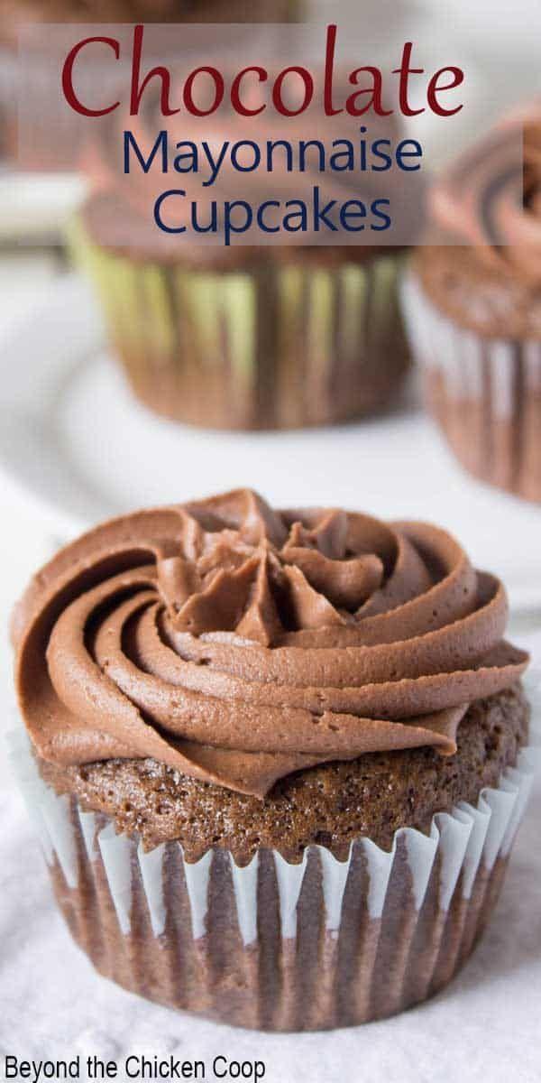 Chocolate Mayonnaise Cupcakes Recipe Yummy Cakes Dessert